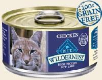 Blue Buffalo Feline Wilderness 3oz Chicken Recipe Can
