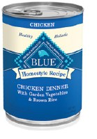 Blue Homestyle Recipes 12oz Chicken Dinner with Garden Vegetables & Brown Rice Can