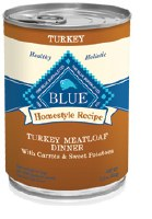 Blue Homestlye Recipes 12oz Turkey Meatloaf Dinner with Carrots & Sweet Potatoes Can