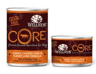 Wellness Core Canine Turkey,Chicken Liver and Turkey Liver 6oz Case