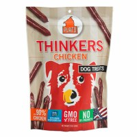 Plato Thinkers Chicken Smart Dog Treats- 10oz
