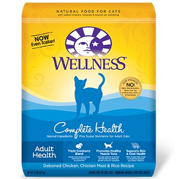 Wellness 2lbs Feline Complete Health-Deboned Chicken,Chicken Meal and Rice Recipe
