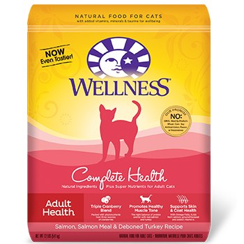 Wellness 2lbs Feline Complete Health- Salmon, Salmon Meal and Deboned Turkey Recipe