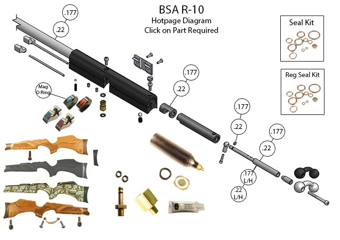 AIRGUN SPARES : BSA : R10 - John Knibbs International Ltd on