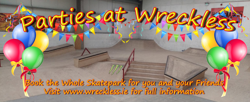 Parties at Wreckless Indoor skatepark
