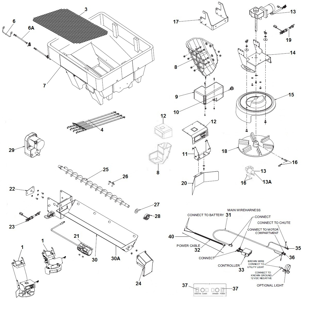 SaltDogg Shpe0750 Poly Spreader Schematic