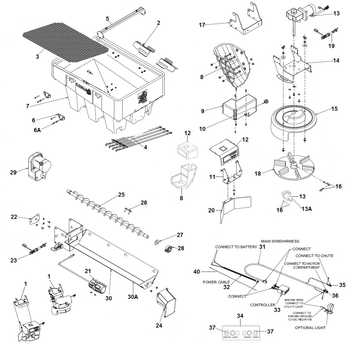 SaltDogg SHPE1000 Spreader Schematic