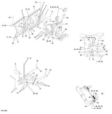 SnowDogg VMD Snow Plow Schematic