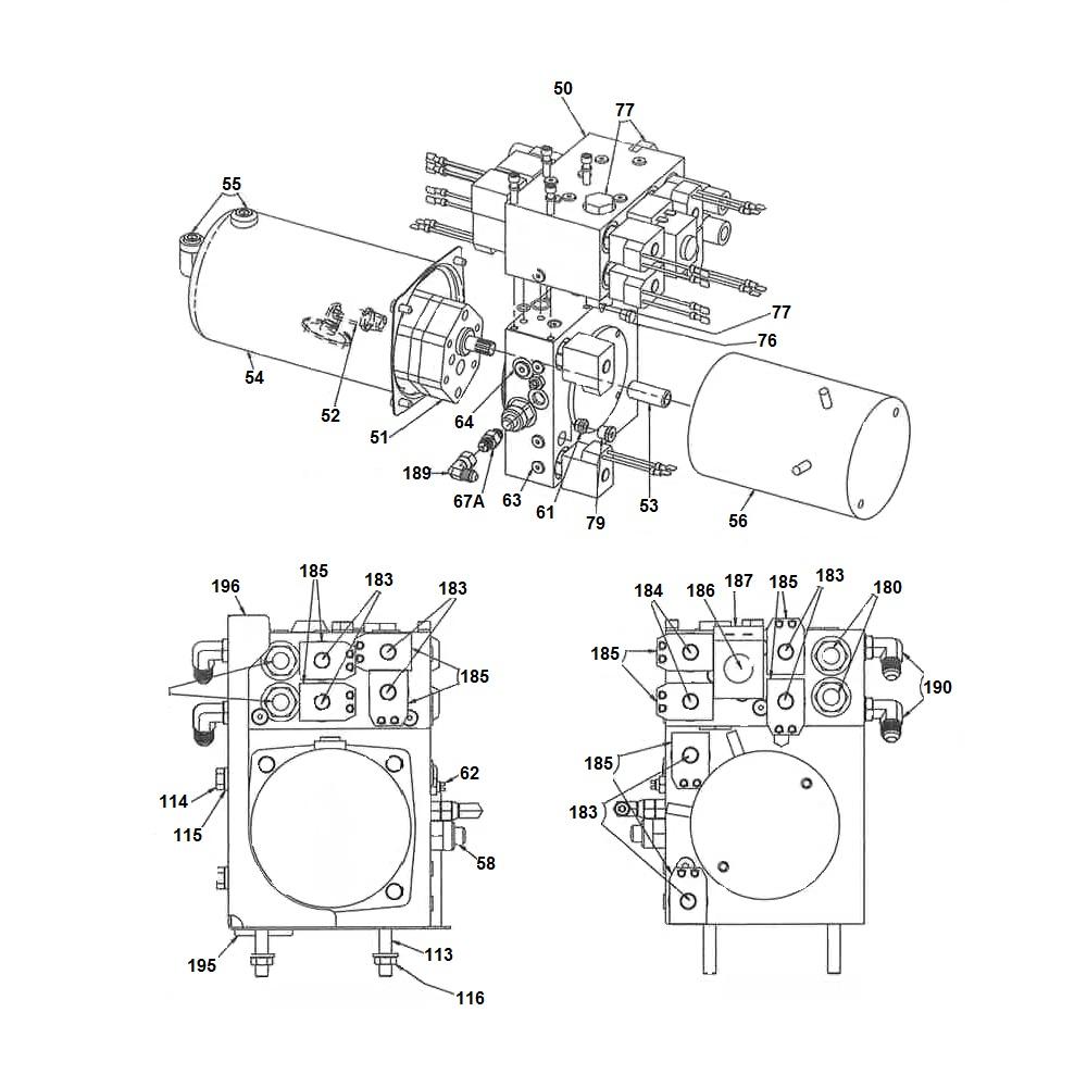SnowDogg V-Plow Hydraulic Unit Schematic