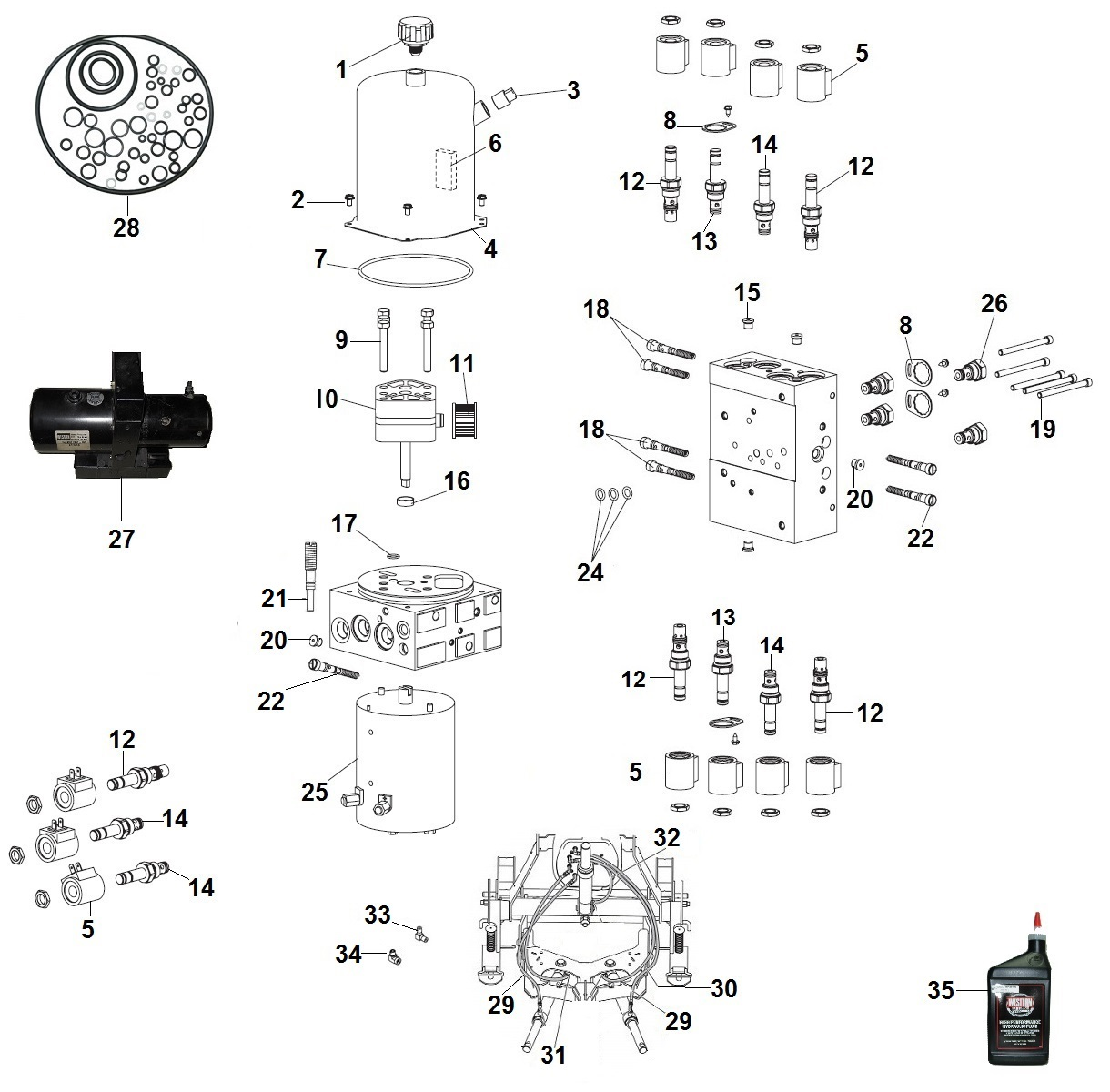 Western Ultra Mount MVP Plus Parts Diagram / Schematic