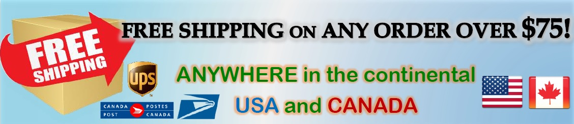 United States and Canada ground shipping only!