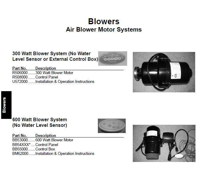 jacuzzi blower systems