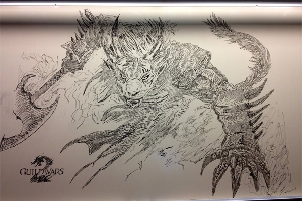 Monster whiteboard drawing