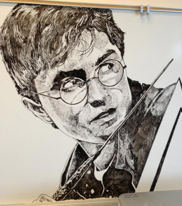 Harry Potter whiteboard drawing
