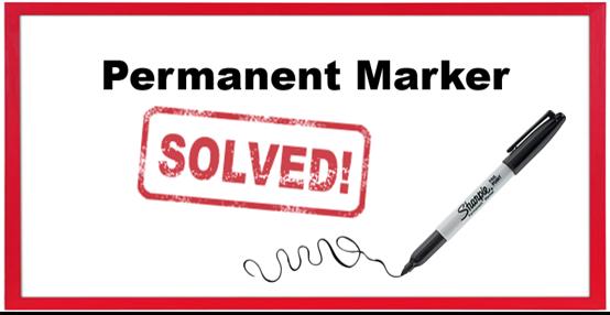 Permanent marker - whiteboard