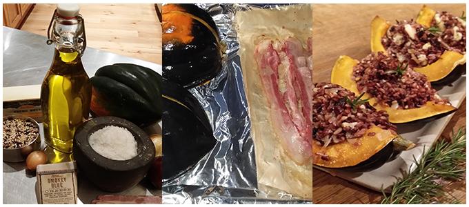 How to make Smokey Blue Cheese Acorn Squash for Thanksgiving