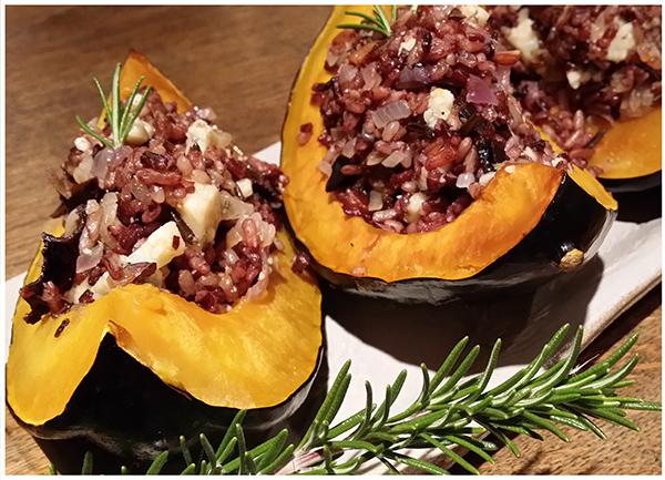 Thanksgiving Recipe for Smokey Blue Acorn Squash