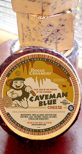 Stacked Wedges of Rogue Creamery's Caveman Blue Cheese