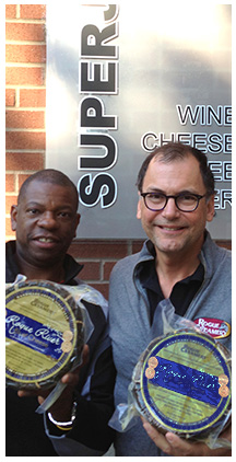 Chef Rodney Woodley and Cheesemaker David Gremmels at Superjet in Portland, Oregon