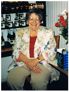 Liz Norris in 2001, at her retirement party