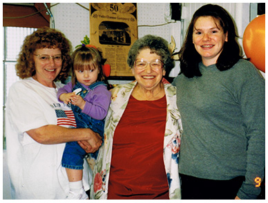 Three generations of Norris women worked at the Creamery