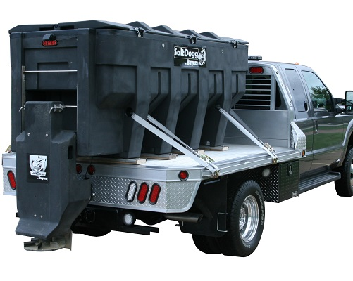 SaltDogg Electric V Box V Hopper Salter Sand Spreader Poly 3 Yard Angelo's Supplies