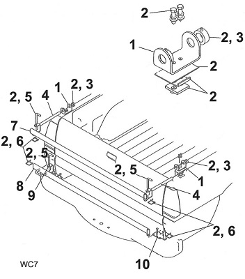 SaltDogg Swing Gate Mount Schematic