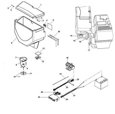 SaltDogg Tailgate TGS06 Parts Schematic