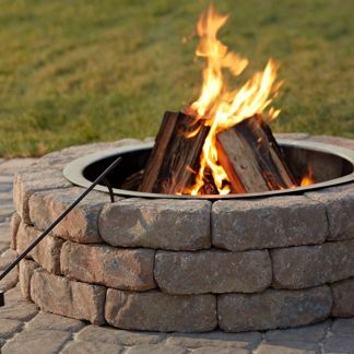Fire pits, rings and glass