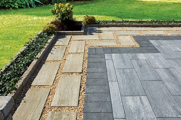 Interlocking brick pavers from oaks