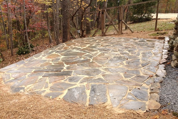 Flagstone tan mist patio