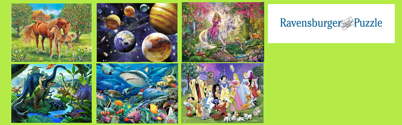100-300 piece puzzles for kids!