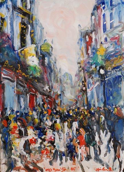 Graftton Street, Acrylic on Card, 2009