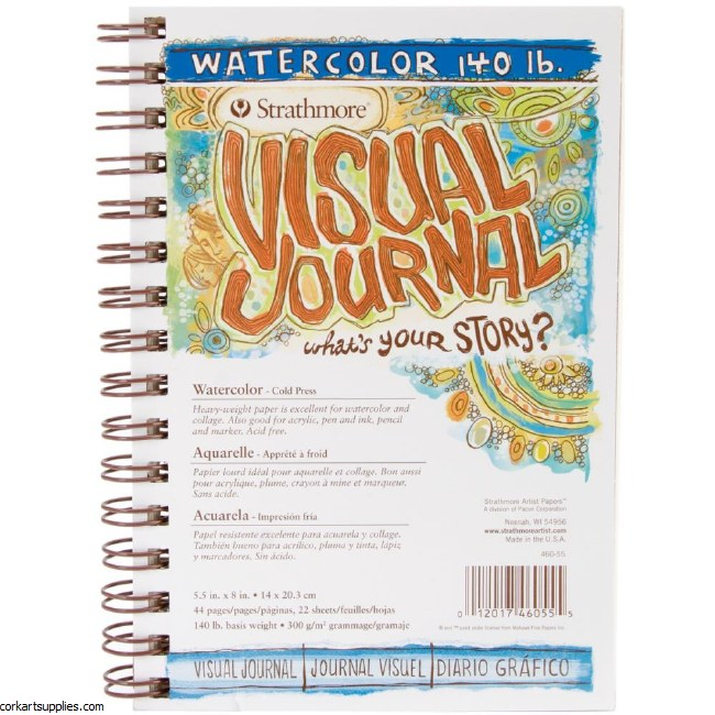 Strathmore Visual Journal Spiral 5.5X8 90lb NOT & 68 pages