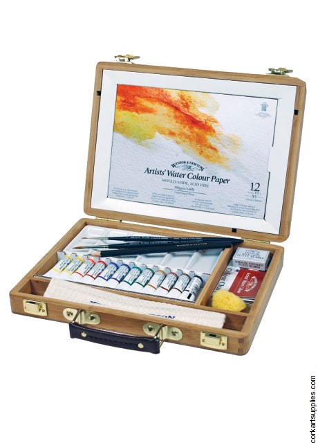 Winsor & Newton Artists' Water Colour Tube Bamboo Box Set