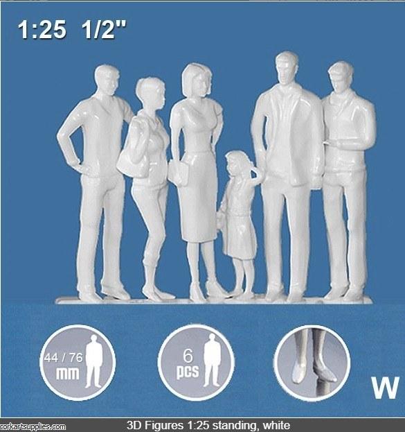 3D Figures Standing 1:25 6pk