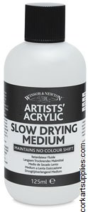 Artists' Acrylic Slow Dry Medium 125ml - Winsor & Newton