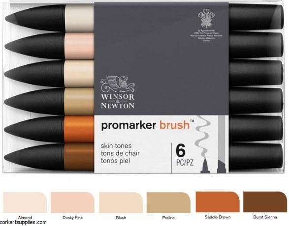 ProMarker 6pk Set Brush Skin