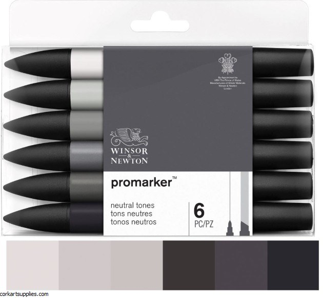 ProMarker Set 6pk Neutral / Grey Tone