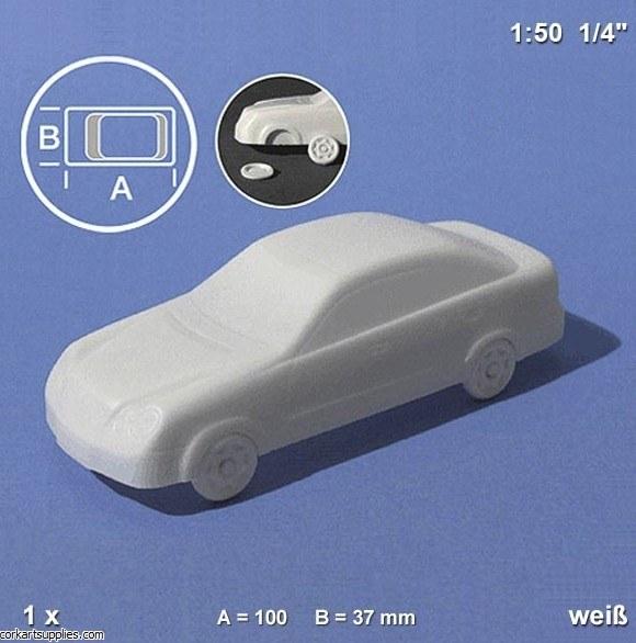Model Cars White 1:50 1pk