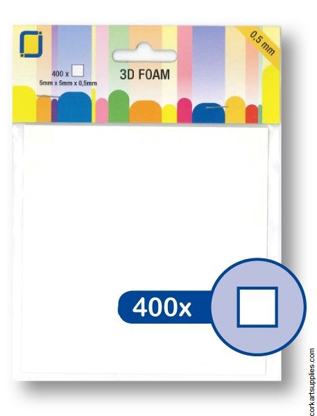 Foam Dots 3D 400pk 0.5mm Squ