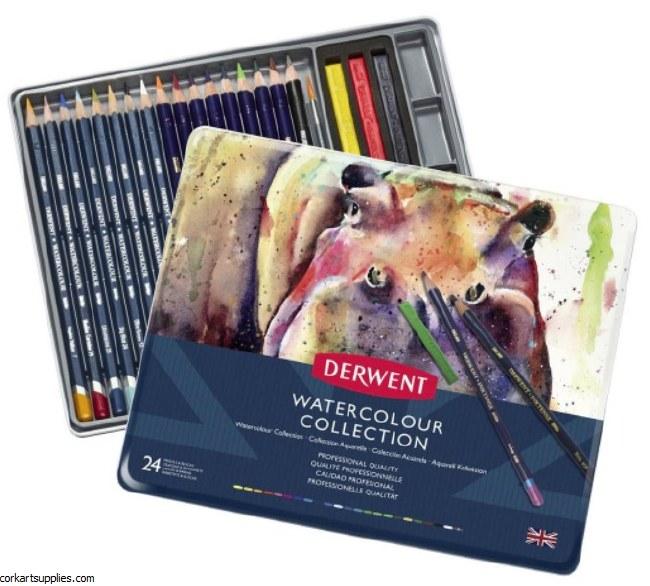 Derwent W/Colour Tin 24pk