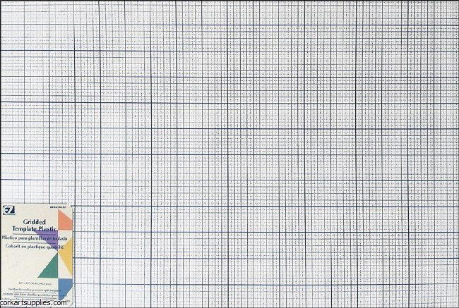 EZ Quilting Gridded Plastic Template 12X18