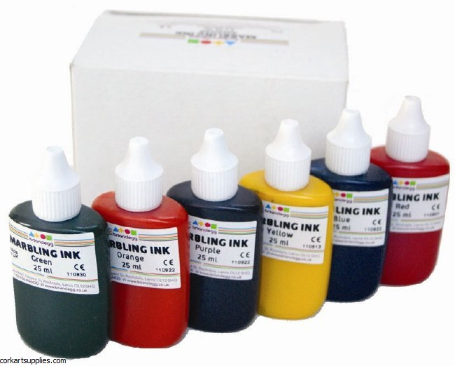 Marbling Ink 25ml 6pk B/Glegg