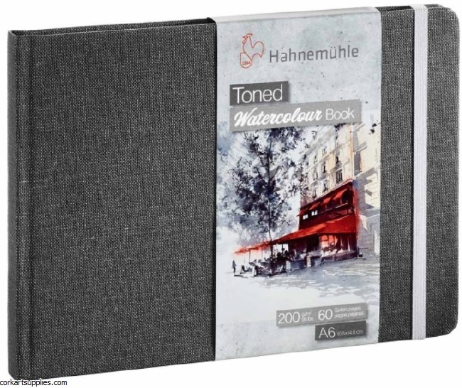 Hahnemuhle Toned Watercolour 200gm Landscape A6 60pg Grey