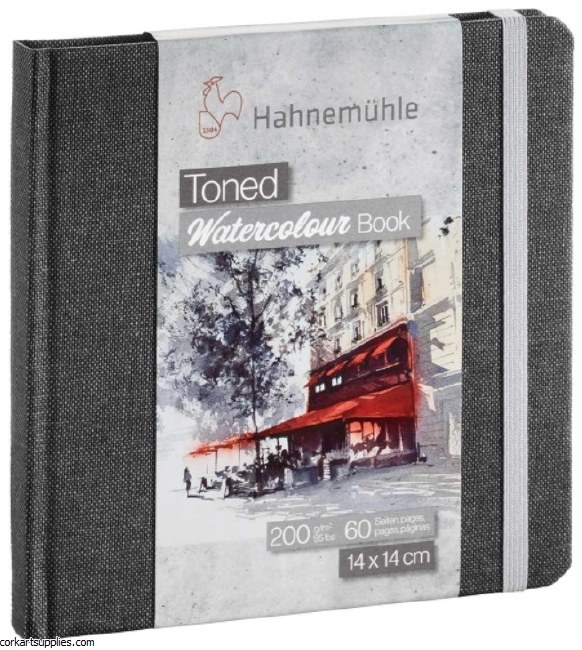 Hahnemuhle Toned Watercolour 200gm Square 14cm 60pg Grey