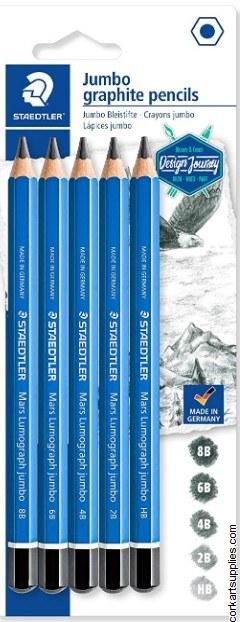 Lumograph Jumbo Pencil 5pk