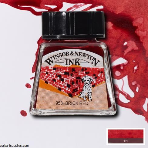 Winsor & Newton Ink 14ml Brick Red