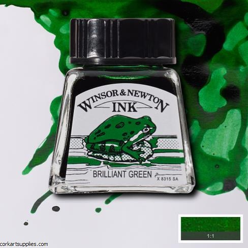 Winsor & Newton Ink 14ml Brill Green
