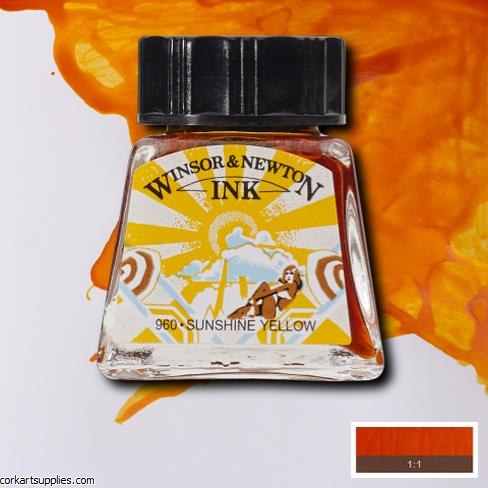 Winsor & Newton Ink 14ml Sunshine Yellow